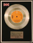 "ABBA - 7"" Platinum Disc - DOES YOUR MOTHER KNOW"